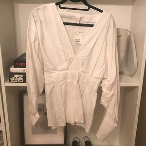 NWT! H&M White Blouse Sz 4